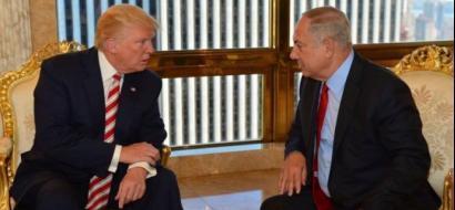 ترامب لنتنياهو: السلام مع الفلسطينيين يتحقق في المحادثات المباشرة فقط