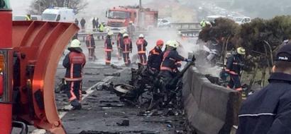 مصرع 5 أشخاص بينهم 4 روس في تحطم مروحية في اسطنبول