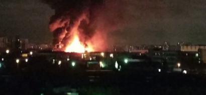 حريق ضخم في مستودع للمواد الكيميائية شمال موسكو