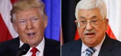 ترامب يهاتف عباس !!