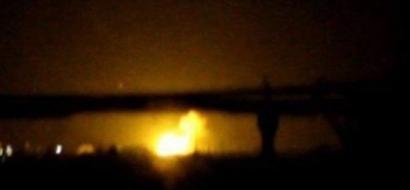 انفجار ضحم قرب مطار دمشق يسبب حرائق واسعة