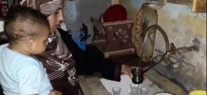 """خاص لـ""""وطن"""" بالفيديو.. غزة: عائلة """"مقاط"""" تعيش بين الواح الصفيح وتهاجمها الفئران"""