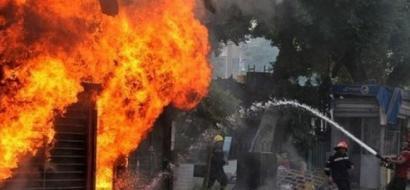 أكثر من مئة إصابة بحريق في الفلبين
