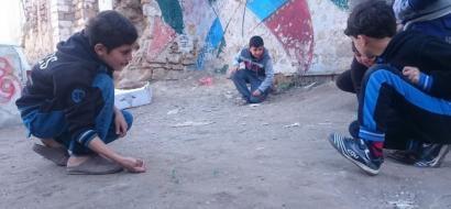 """خاص لـ""""وطن"""": بالفيديو.. """"القلول"""".. ملجأ أطفال غزة للهو والمنافسة"""