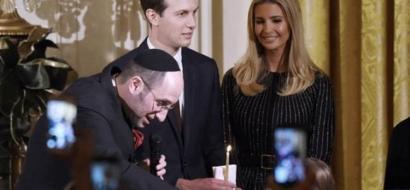 """فيديو ..  ترامب يحضر ترانيم عيد يهودي تدعو لـ""""الذبح باسم الله"""""""