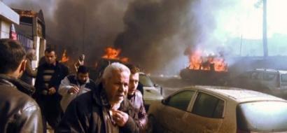 عشرات القتلى والجرحى في انفجار سيارة مفخخة بمدينة أعزاز السورية