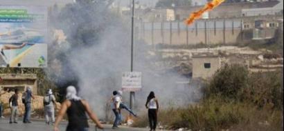 3 إصابات برصاص الاحتلال خلال مواجهات على مدخل البيرة الشمالي