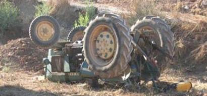 مصرع مواطن نتيجة انقلاب جرار زراعي في نابلس