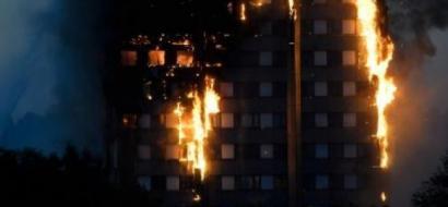 حريق هائل في برج من 27 طابقا غربي لندن