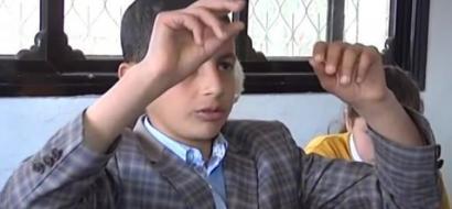 """خاص لـ""""وطن"""" بالفيديو .. الطفل عبد الرحمن ..حاسوب يمشي على قدمين"""