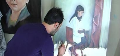 """خاص لـ """"وطن"""": بالفيديو.. قلقيلية: """"جعيدي"""".. رسومات تحلم بالعالمية وواقع يفتقر لدعم المواهب"""