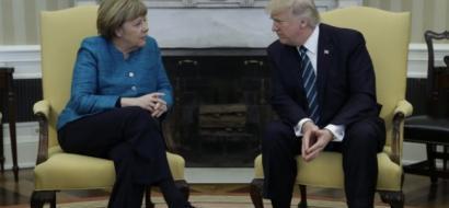 ترامب يلتقي ميركل