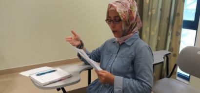 """خاص لـ""""وطن"""" بالفيديو .. نابلس: عائشة اردوغان تعشق الأدب الفلسطيني وتنقله إلى التركية"""