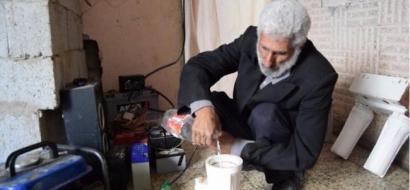 """خاص لـ""""وطن"""": بالفيديو.. بيت حانون: مواطن يولد الطاقة باستخدام الماء"""