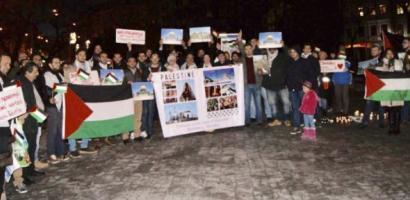 """وقفة تضامنية وسط العاصمة السلوفاكية بعنوان """"القدس لنا"""""""