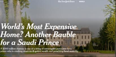 """السعودية """"مستفزة"""" من """"نيويورك تايمز"""" بعد نشرها فضائح بن سلمان"""