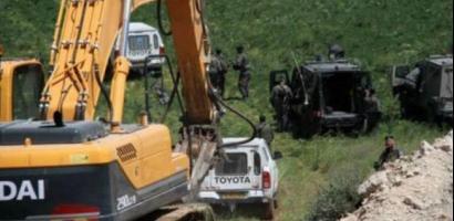 الاحتلال يجرف نحو 500 دونم جنوب نابلس