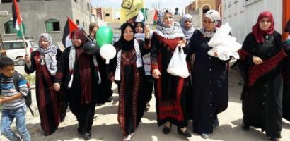 مسيرة نسوية في جنين تضامنا مع الأسرى