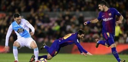برشلونة يسحق ديبورتيفو لاكورونيا برباعية نظيفة