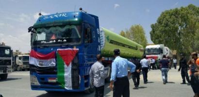 غزة:دخول شاحنات وقود لمحطة الكهرباء
