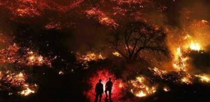 """""""الطبيعة"""" وقفت هذه المرة مع حريق """"توماس"""" !!"""