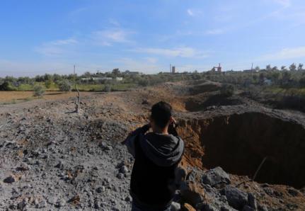 آثار القصف الاسرائيلي في قطاع غزة