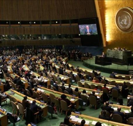 169 دولة في الأمم المتحدة تصوت لحق الشعب الفلسطيني في تقرير مصيره