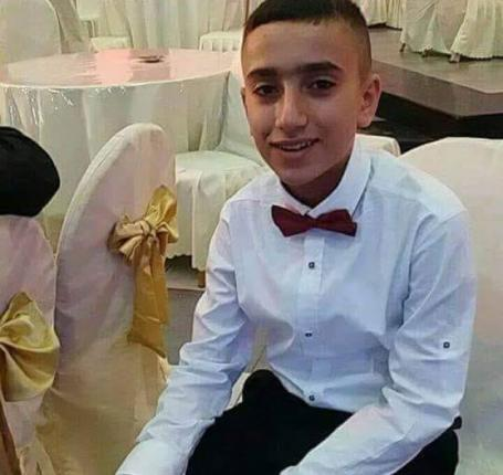 استشهاد الطفل أركان مزهر في مخيم الدهيشة