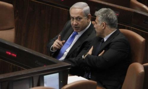 لبيد في الكنيست: نتنياهو سرب معلومات من المجلس الوزاري خلال حرب 2014