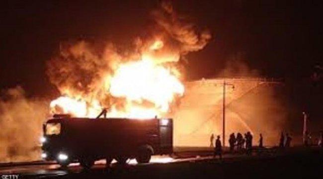 اندلاع حريق في خزان مصفاة عدن النفطية جنوب اليمن