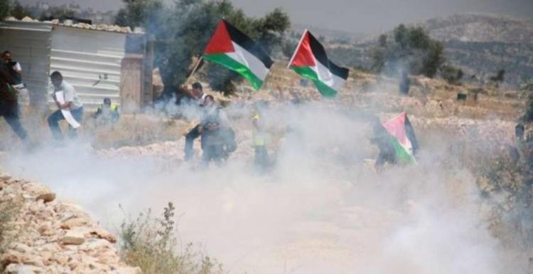 إصابة شاب بالرصاص المعدني والعشرات بالاختناق في مسيرة كفر قدوم الأسبوعية