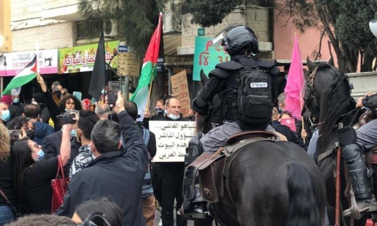شرطة الاحتلال تعتدي وتعتقل متظاهرين ضد زيارة نتنياهو الى الناصرة