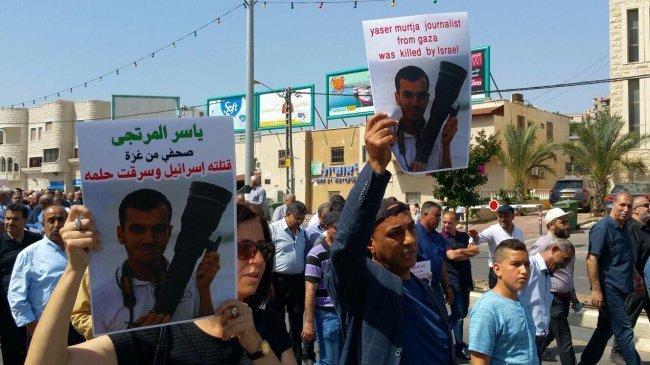 الصحفي ياسر.. استشهد في غزة وصورته حاضرة في سخنين