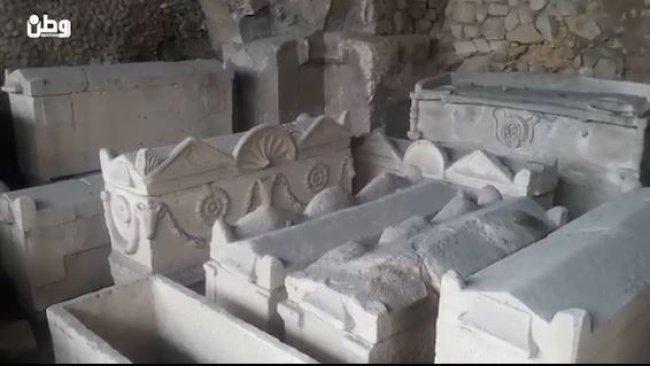 خاص بالفيديو| المقبرة الرومانية.. شاهد على روعة العمارة القديمة في نابلس