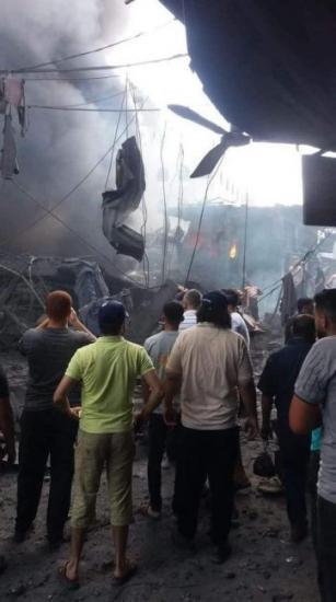 وفاة مواطن و10 إصابات في انفجار كبير وسط قطاع غزة