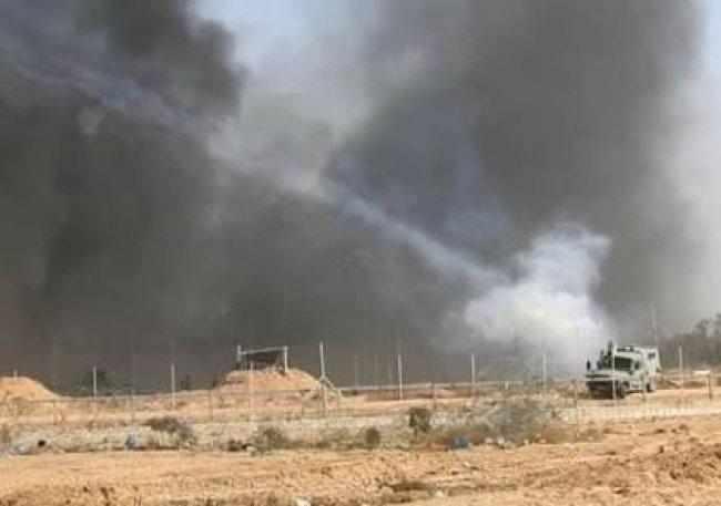 حرائق بحقول الاحتلال بفعل طائرات وبالونات حارقة من غزة