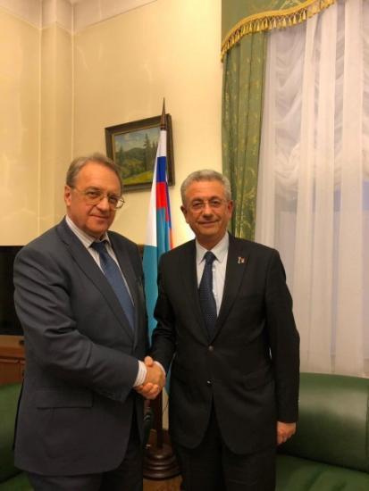 البرغوثي يلتقي الممثل الخاص للرئيس بوتين ونائب وزير الخارجية الروسي بوغدانوف