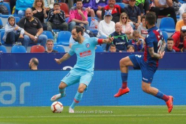 أتلتيكو مدريد ينهي مبارياته في الليغا بتعادل مع ليفانتي