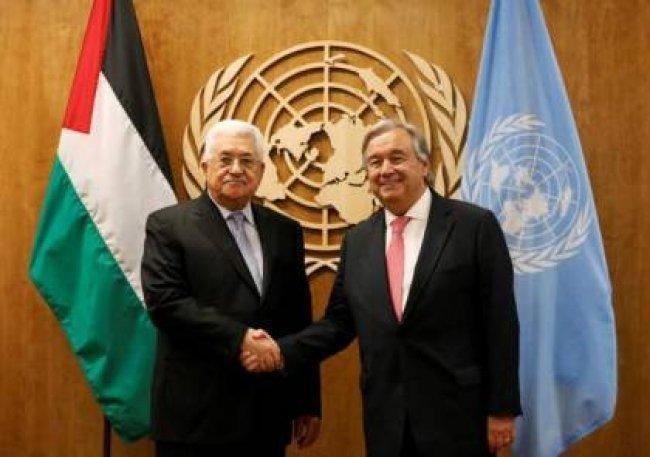 الرئيس عباس سيلتقي غوتيريش في نيويورك الأسبوع المقبل
