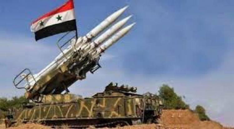 """""""سانا"""": الدفاعات الجوية السورية تتصدى لعدوان إسرائيلي في سماء حمص"""