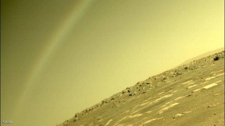 """""""ناسا"""" توضح حقيقة صورة """"قوس قزح"""" على المريخ"""