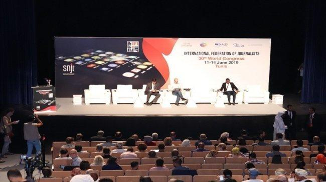 انطلاق فعاليات المؤتمر الثلاثين للاتحاد الدولي للصحفيين في تونس