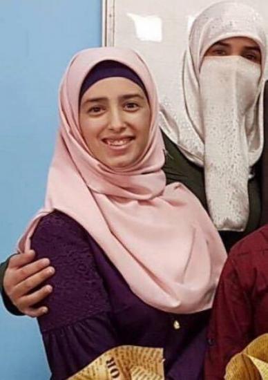 """أفنان.. تفوقت في """"الانجاز"""" واعتذرت عن الاحتفال بسبب اعتقال الاحتلال لوالدتها !"""