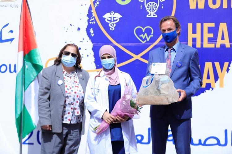 بمناسبة يوم الصحة العالمي.. الاتحاد الأوروبي يحتفل مع الطواقم الطبية الفلسطيني ويؤكد على دعمه المتواصل لهم خلال الجائحة