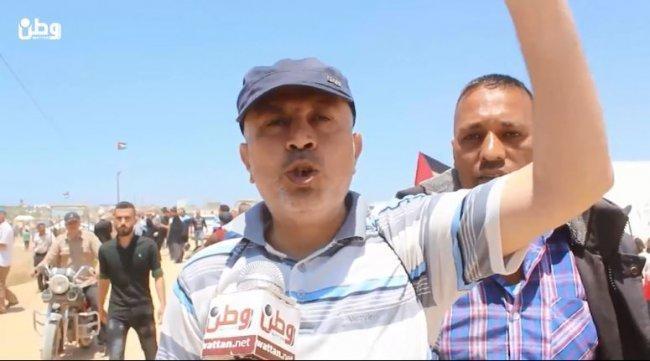 فيديو  لاجئون مشاركون بمسيرة العودة لوطن: سنعود إلى ديارنا وحق العودة لن يسقط