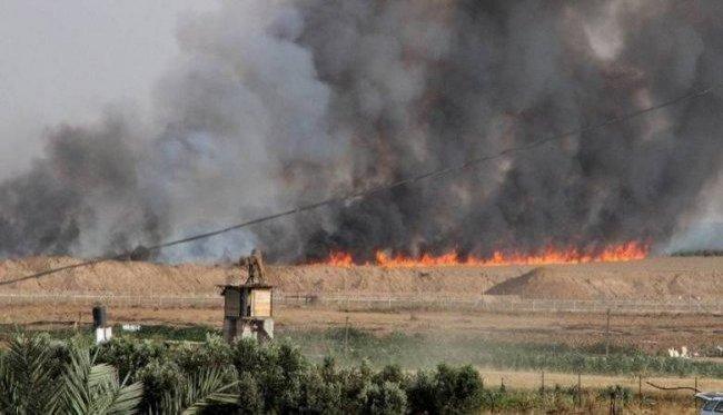 """9 حرائق في مستوطنات """"غلاف غزة"""""""