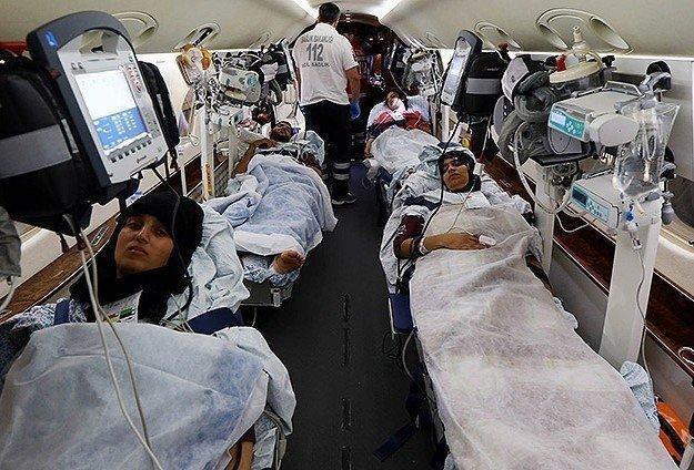 """""""الصحة التركية"""": جرحى غزة يعانون من كسور وفقد أنسجة"""