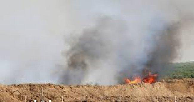 مواصلة الحرائق في مستوطنات غلاف غزة بفعل البالونات الحارقة