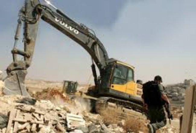 الاحتلال يهدم بئر مياه شرق طوباس