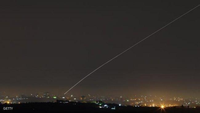 سقوط صاروخ في ساحل عسقلان